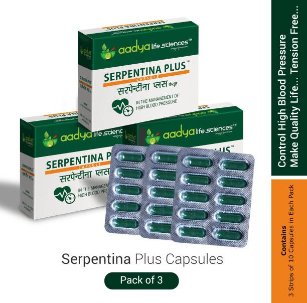 Aadya Life Serpentina Plus capsules, Works as a Comprehensive Cardio Protective