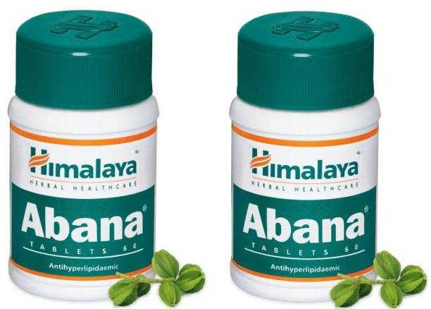 HIMALAYA Abana 60 Tablet (Pack Of 2) (helps in reducing cholesterol levels like in cases of hyperlipidemia)