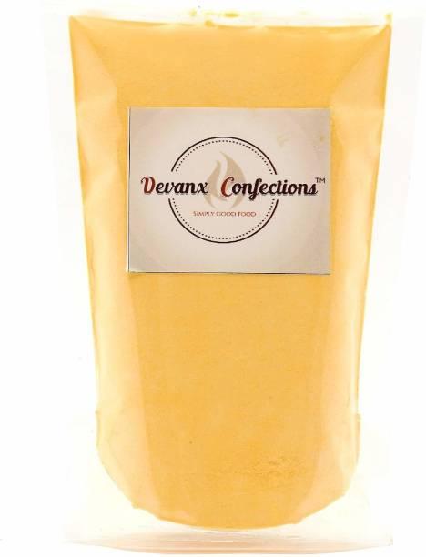 DEVANX CONFECTIONS Mango Custard Powder | 250 gm | Eggless | Mango Flavoured Custard Powder