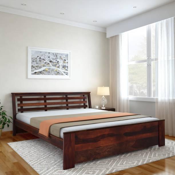 Vintej Home Woodser Sheesham Solid Wood Queen Bed