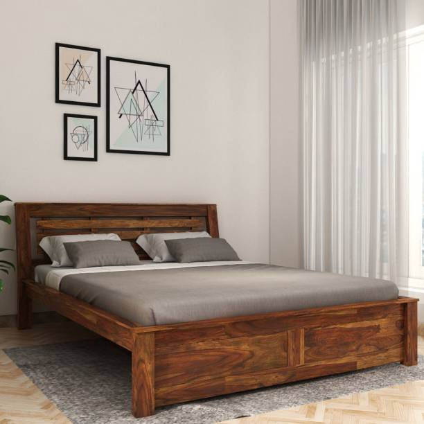 Vintej Home Woodser Sheesham Solid Wood King Bed