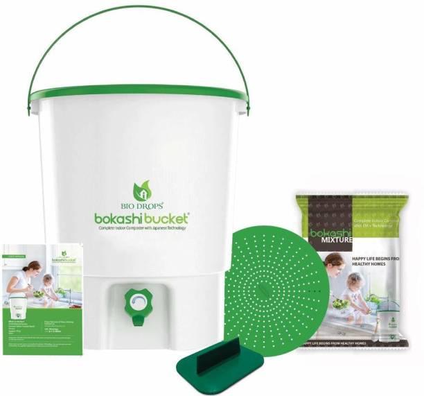 Bokashi Bucket Bio Drops Bucket Indoor Composer 30 L Plastic Bucket