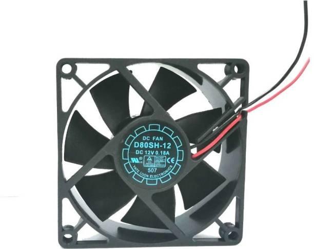 TechSupreme DC 12V Cooling Fan for DIY Incubator Cabinet Fan 3.5-Inch Cooler