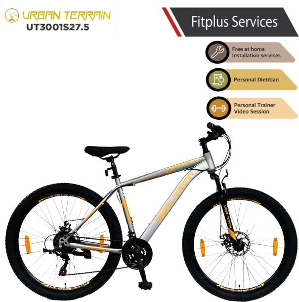 Urban Terrain UT3001S27.5 Steel MTB with 21 Shimano Gear and Installation services 27.5 T Mountain Cycle