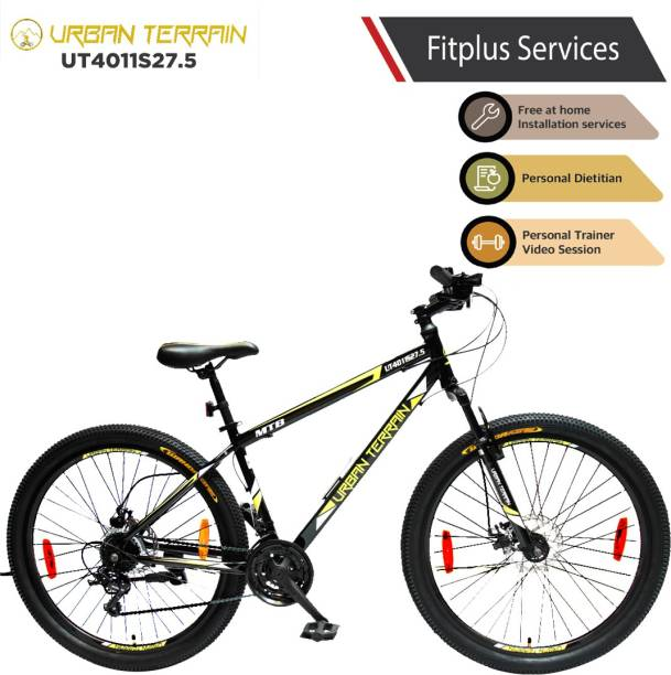 Urban Terrain UT4011S27.5 Steel MTB with 21 Shimano Gear and Installation Services 27.5 T Mountain Cycle