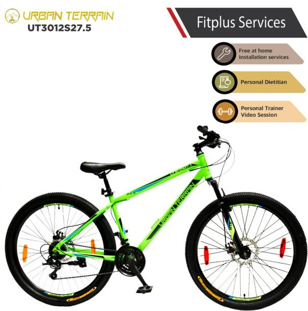 Urban Terrain UT3012S27.5 Steel MTB with 21 Shimano Gear and Installation Services 27.5 T Mountain Cycle