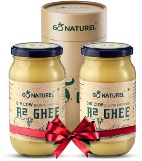 Go Naturel Gir Cow Ghee Ghee Ghee 800 ml Glass Bottle