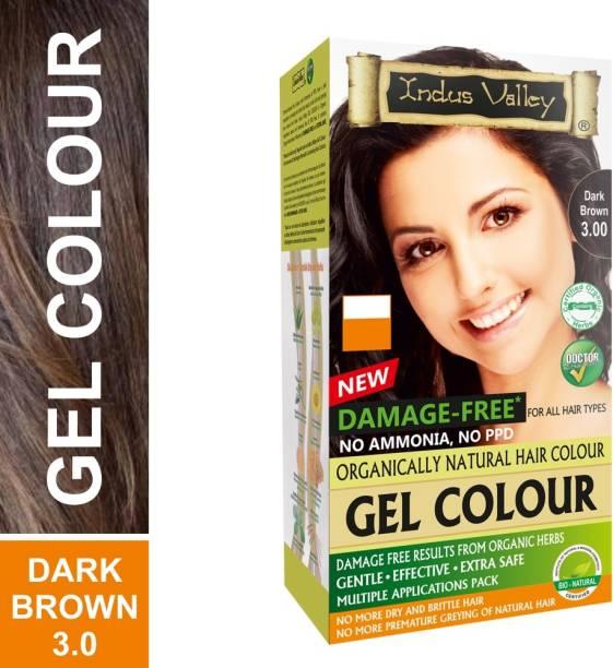 Indus Valley Natural Damage Free Gel Hair Color - Dark Brown , Dark Brown