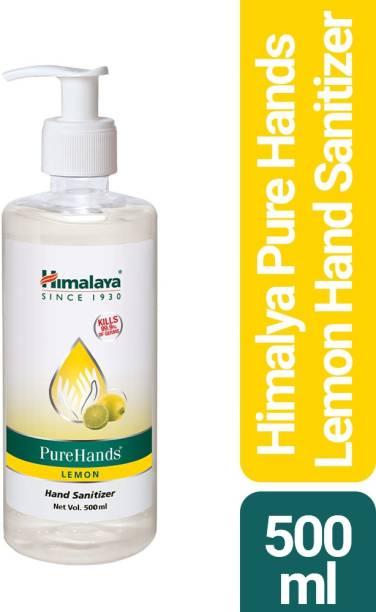 HIMALAYA PureHands Lemon Hand Sanitizer Pump Dispenser