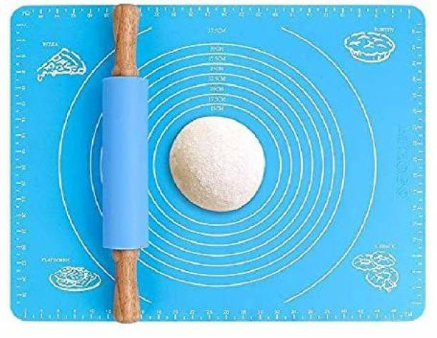 BANQLYN 100010 on-Stick Kneading Dough Mat Bakery Measuring Mat Easy to Clean Silicone Mat Kitchen Tool Set