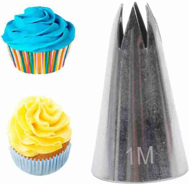 Bulky Buzz;Best of Baking 1M 1 Piece Nozzle (1 M) Stainless Steel Nozzle Open Star Tip Pastry Cookies Tools Icing Piping Nozzles Cake Decorating Cupcake Creates Drop Flower Stainless Steel Petal Icing Nozzle (Pack Of 1) Stainless Steel Quick Flower Icing Nozzle