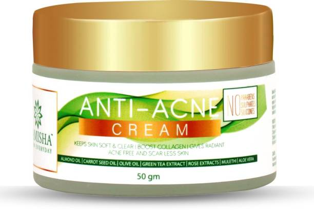 Samisha Organic Anti Acne Face Cream For Oil Control, Acne Treatment & Scar Removal - 50 GM