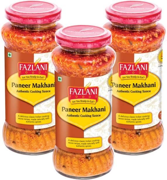 FAZLANI FOODS Ready to Eat Paneer Makhani Sauce - Pack of 3, 285gm Each 855 g