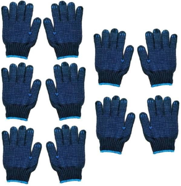 RBGIIT RBJS Women Eczema, Cloth Gloves for Dry Hands, Serving, Handling Film, Marching, Archival, Coin Collecting Safety Work Gloves Heavyweight for Men & Women Warehouse,Light industry,Carton handling, Construction L459 Kevlar  Safety Gloves