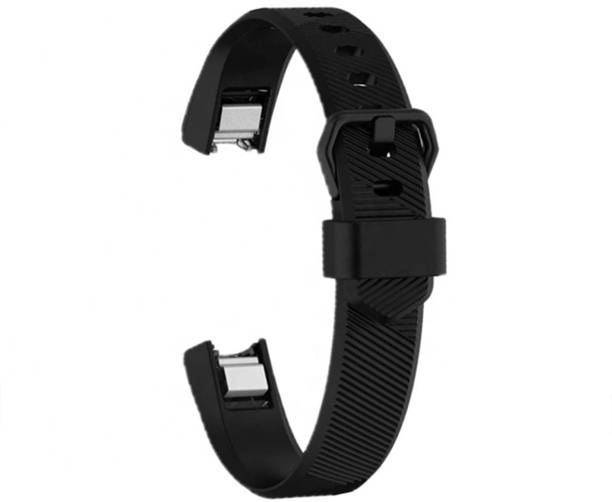 3Tree Soft Silicone Wristband Strap Compatible with Fitbit Alta /Alta HR/Ace – Black (Large) Smart Watch Strap