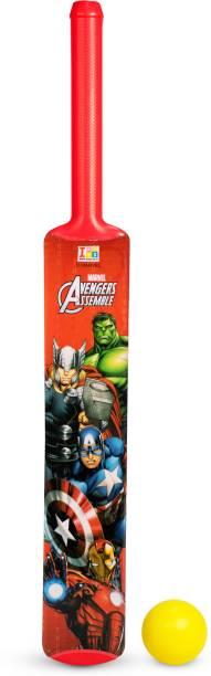 MARVEL Avengers Senior Bat, 4 Stumps and Ball Cricket Kit