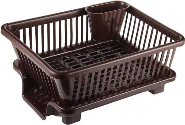 RV PRODUCT Large Durable Sink Plastic Dish Rack Utensil Drainer Drying Basket for Kitchen with draining Tray After wash Tool Cutlery Fork Organizer Dish Drainer Kitchen Rack Dish Drainer Kitchen Rack