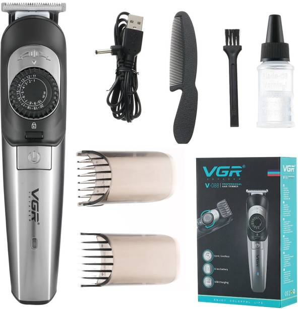 VGR V-088 Professional Cord/Cordless Hair Clipper  Runtime: 90 min Trimmer for Men