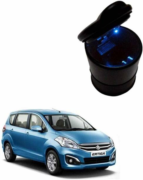 Silver magnate Black Mulitpurpose Led Light Cigarette Car Mini Dustbin For Maruti Suzuki Ertiga Black Plastic Ashtray