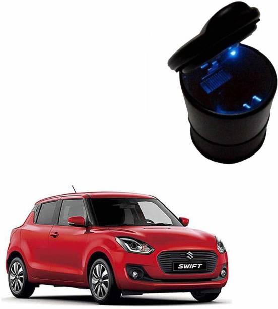 Silver magnate Car Dustbin/Mini Car Trash Bin/Compact Car Garbage Bin/Car Ashtray for Maruti Suzuki Swift Black Plastic Ashtray