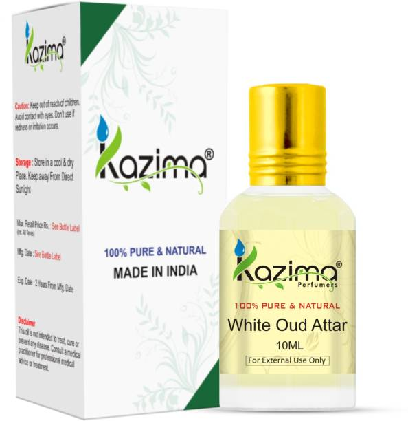 KAZIMA White Oud Perfume For Unisex - Pure Natural (Non-Alcoholic) Floral Attar