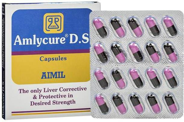 AIMIL Amlycure D.S. Capsule for Total Liver Support   Cleanse and Detox   Protects Cells & Enzymes