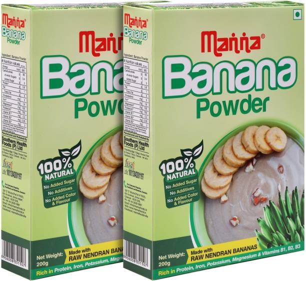 Manna Banana Cereal Mix for Babies, Infants, 400g | Banana Powder | Kannankaya Powder | Made from high quality Nendran Bananas Cereal