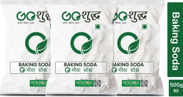 Goshudh Premium Quality Baking Soda 500 gm Each (Pack of 3) Baking Soda Powder