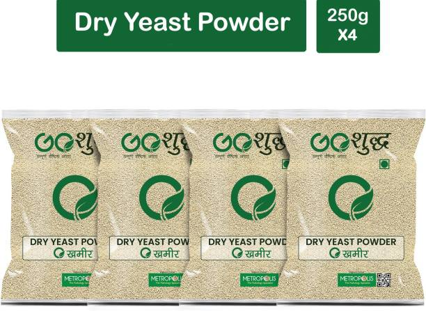 Goshudh Premium Quality Khameer (Dry Yeast)-250gm (Pack Of 4) Yeast Powder
