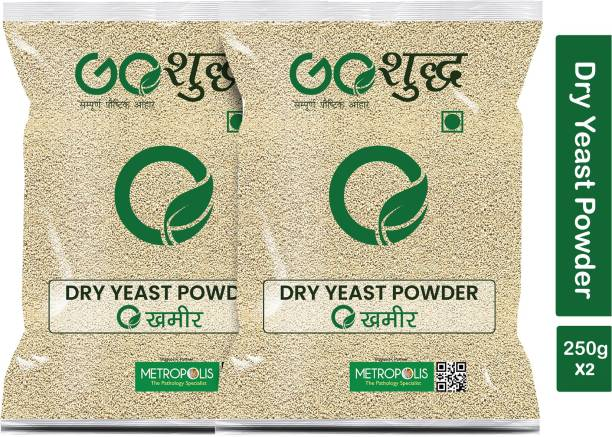 Goshudh Premium Quality Khameer (Dry Yeast)-250gm (Pack Of 2) Yeast Powder