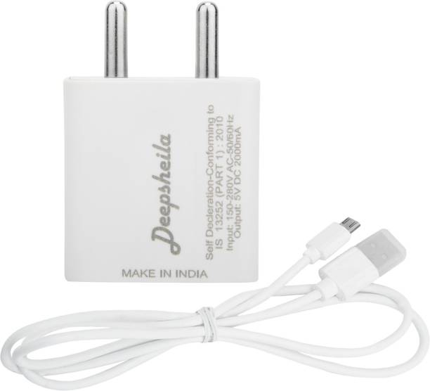 Deepsheila usb adaptor & data cable for xolo a 1010 5 W 2 A Mobile Charger with Detachable Cable