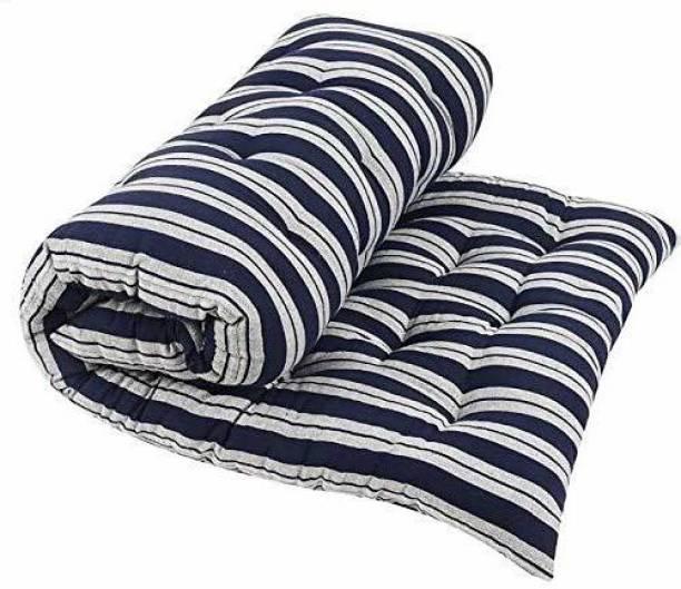 COLOFLY Soft Cotton Multicolour Mattress / Gadda Single Bed Dark Blue 4 inch Single Cotton Mattress