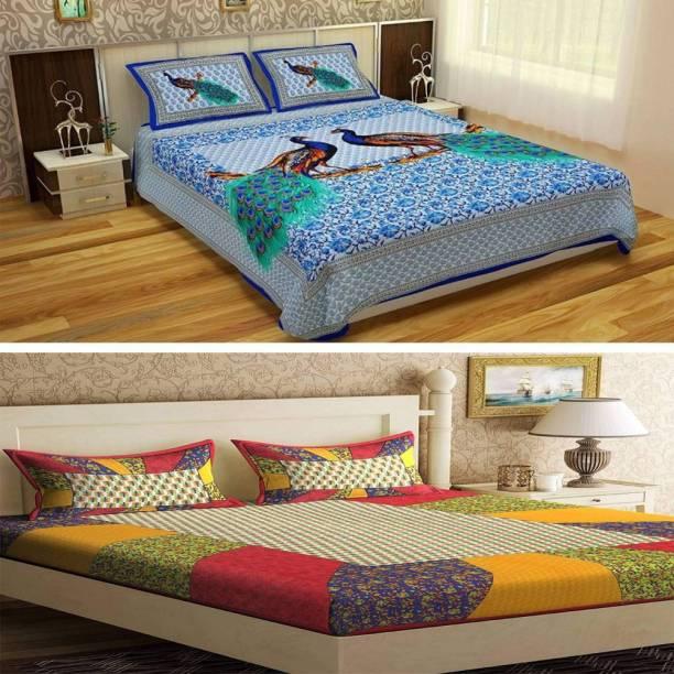 crafton 180 TC Cotton Double Printed Bedsheet
