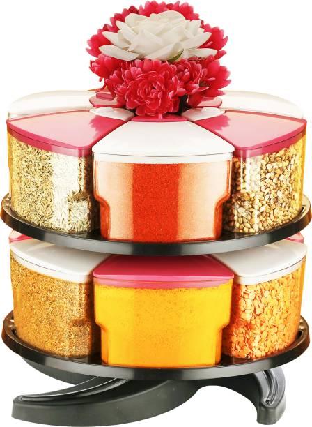 Optimus 360° Spice Jars Masala Jars Spice Box Masala Box Condiment Set Of 12 12 Piece Spice Set
