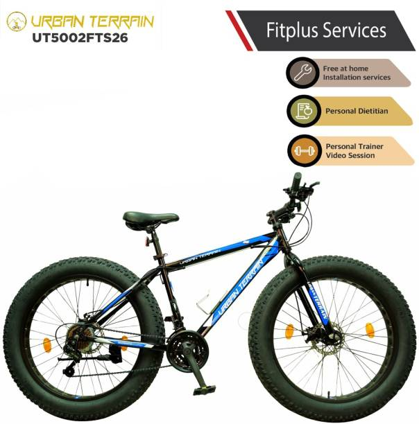 Urban Terrain Beast UT5002FTS26 with 21 Shimano Gear and Installation Services 26 T Fat Tyre Cycle