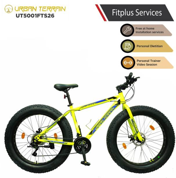 Urban Terrain Beast UT5001FTS26 with 21 Shimano Gear and Installation Services 26 T Fat Tyre Cycle