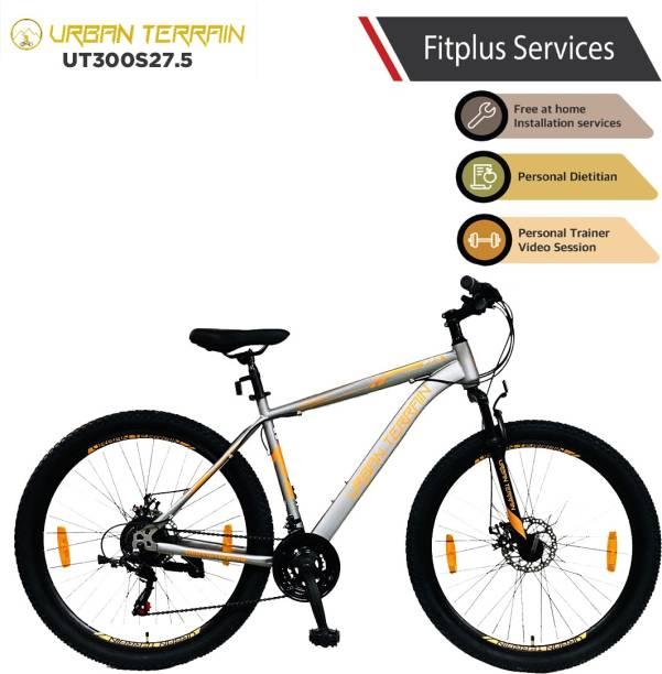 Urban Terrain UT300S27.5 Steel MTB with 21 Shimano Gear and Installation services 27.5 T Mountain Cycle