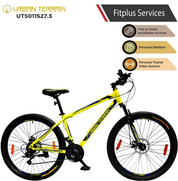 Urban Terrain UT5011S27.5 Steel MTB with 21 Shimano Gear and Installation services 27.5 T Mountain Cycle
