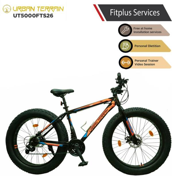 Urban Terrain Beast UT5000FTS26 with 21 Shimano Gear and Installation Services 26 T Fat Tyre Cycle