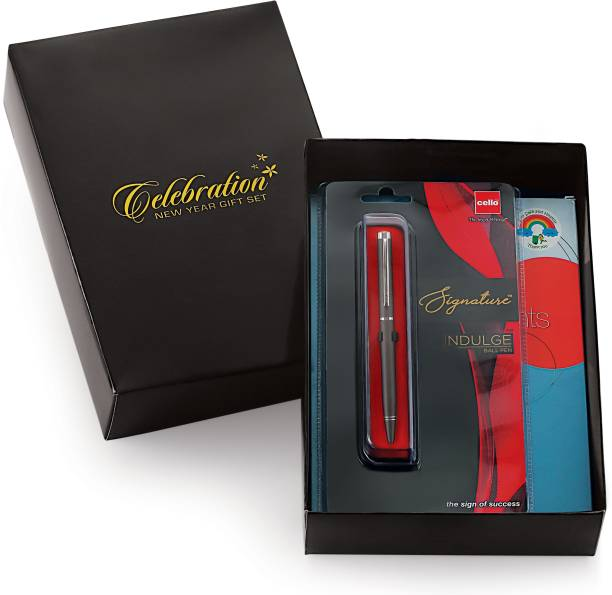 CELEBRATION 2021 Special Moments Diary Giftset with Cello Signature Indulge Ball Pen - A5 Diary Ruled 330 Pages