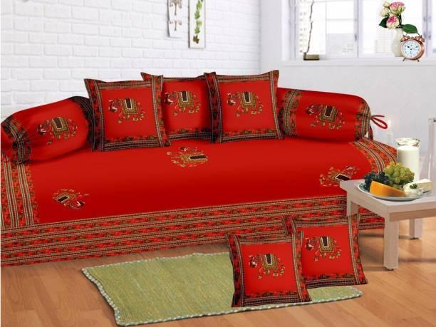 crafton Cotton Animal, Embroidered Diwan Set