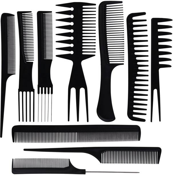 BS-MALL Styling Comb Set Variety Pack Great for All Hair Types & Styles Set 0f 10 Pcs