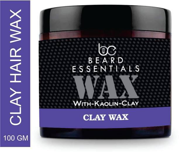 BEARD ESSENTIALS Hair Styling Clay Hair Wax With Firm Matte Finish - 100gm Hair Clay