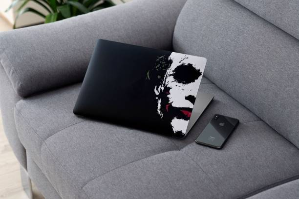 Yuckquee Joker Laptop Skin Sticker, Fit for All Models (10 inch to 15.6 inches, Multicolour). (J)-18 Vinyl Laptop Decal 15.6