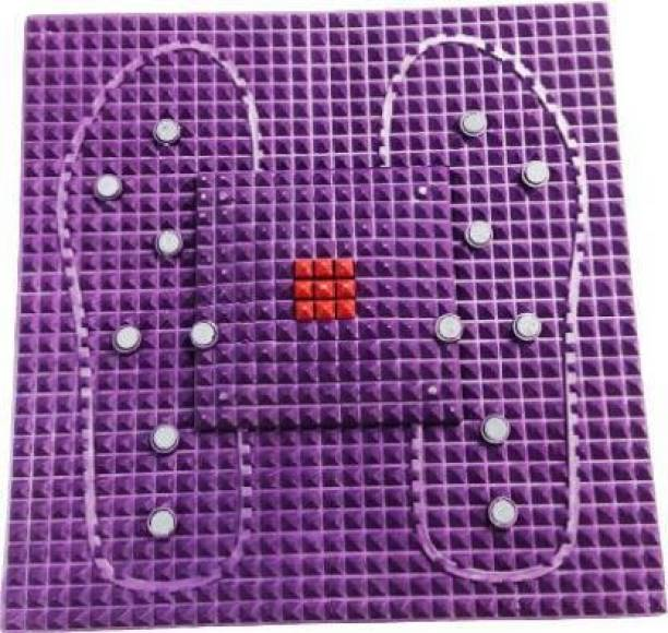 dx mart Acupressure Mat for Pain Relief Crafted with Pyramid Points (Standard Size) NA mm Accupressure Mat