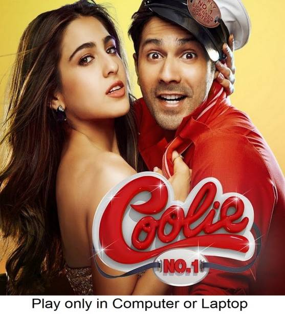 Coolie No. 1 (2020) HD print clear voice it's burn data DVD play only in computer or laptop it's not original without poster