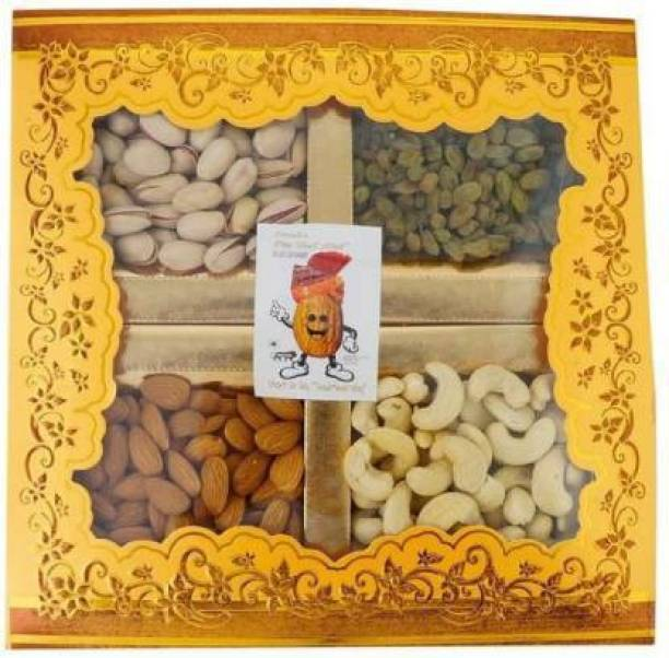 """Sainik's Dry Fruit Mall Dry Fruit Mall - Start UR Day """"Traditional Way"""" Diwali Gifts of Dry Fruits Hamper/Dry Fruit Gift Box, 400 Grams Assorted Nuts"""