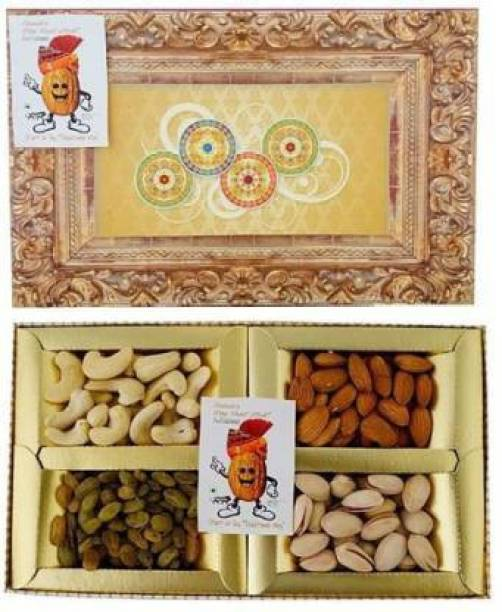 """Sainik's Dry Fruit Mall Dry Fruit Mall - Start UR Day """"Traditional Way"""" Diwali Gifts of Dry Fruits Hamper/Dry Fruit Gift Box, 200 Grams Assorted Nuts"""