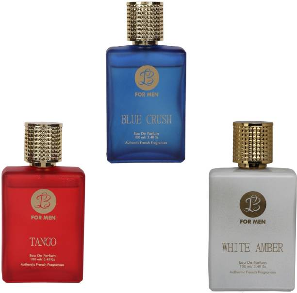 Lyla Blanc TANGO BLUE CRUSH WHITE AMBER Perfume Spray for Men- (Set of 3) (100ml each) Eau de Parfum  -  100 ml