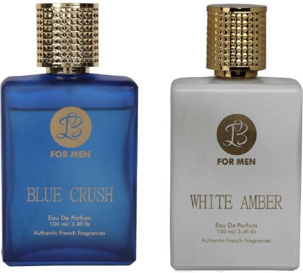 Lyla Blanc BLUE CRUSH WHITE AMBER Perfume Spray for Men- (Set of 2) (100ml each) Eau de Parfum  -  100 ml